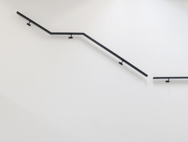 2010, metal banister, 150X200X10 cm (image from a previous installation; photograph: Barak Zemer)