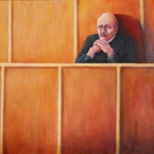 THE JUDGE , 2003 Oil on canvas 49cm x 69cm
