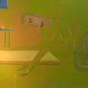 Transperant Man, 2007 Oil on canvas 174X132