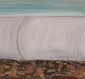 שי אזולאי צינור 2007 ,שמן על בד 110X196