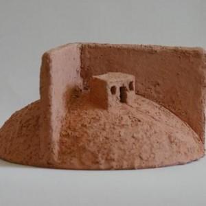 הר חומה , 2005 אדמית שרופה 23X23X25 סמ