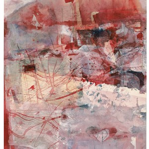 Red voices of birds, 1998 wATERCOLORS 27.5X37.5 CM