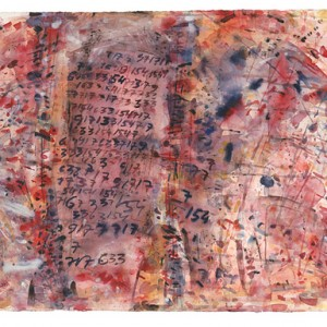 The subconscious is obsessive, 1998 Watercolors 56.5X76 cm