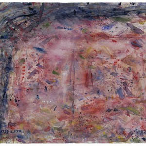 Happiness is an angel scattered all over the world, 1997 Watercolors 56.5X76 cm