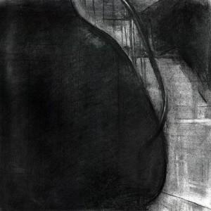 Simon Adjiashvili, Untitled, 2006, charcoal on paper 25.7x25.5