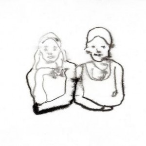 Hagai Argov, The Sisters, 2004, ink on paper 35X22