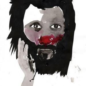 Gili Avissar, Untitled (self portrait), 2006, ink on paper 36x48