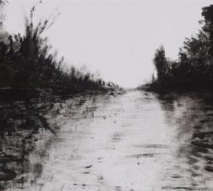Dan Birenboim, Untitled, 2004, acrylic on paper 47x88