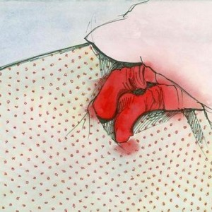 Gabriela Klein, Exposed, 2004, pen and watercolor on paper 28x38