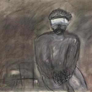 Gina Rotem, Prisoner, 2006, oil pastel on paper 70x100