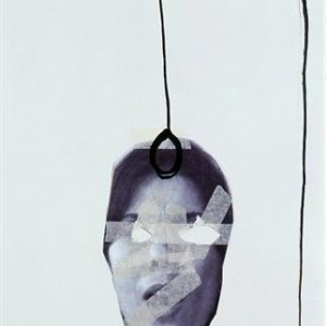 Chen Shish, Finnaly, 2007, photograph, masking tape and ink on paper 50X70