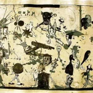 Zvi Tolkovsly, Elsham Space, 2006, lithograph, lithographic crayon, and marker on paper 75x100