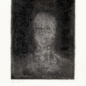 Beba Yannay, Figure I, 2005, processed etching in mixed media 15.5x12