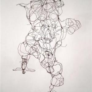 David Isaacs, Craft, 2005, metal wire 117x64