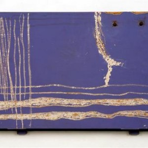 Yaniv Cohen, Purple Carved Purple Carved, 2006, engraving on wooden door 33X51