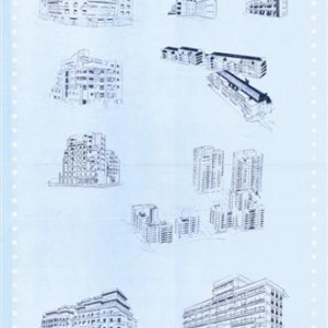 Irit Hemmo, Bon Voyage, Apartments, TYP ALC, 2004-2005, carbon paper on paper 56X38