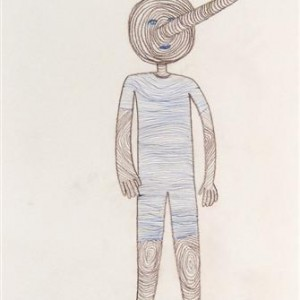 Gilit Fisher, Pinocchio, 2005, colored pencil and pen on paper 40x30