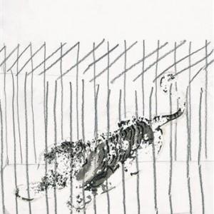 Talia Keinan, Untitled, 2004, pencil and temporary tattoo 28x21