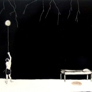 midnight, 2008 oil on paper 70x100 cm