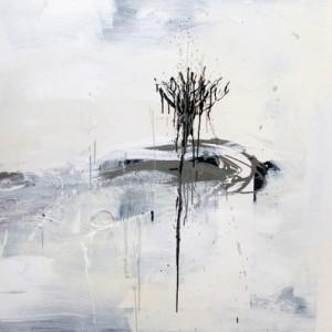 עץ - אליאב איה, 2009 , אקריליק, צבע תעשייתי על בד, 150x120