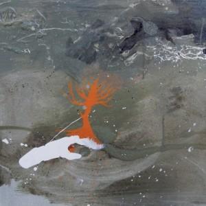 3 עצים (1) - אליאב איה, 2009 , אקריליק, צבע תעשייתי על בד, 70x50