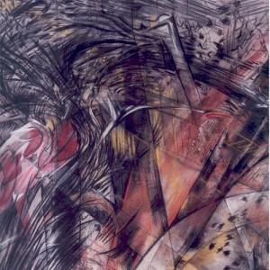 """ללא כותרת, 1995 טכניקות מעורבות על נייר 150 על 150 ס""""מ"""