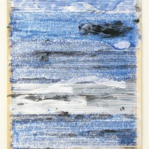 Emil Abraham, Erasure no. 4, 2009, Acrylic, pencil and ball-point pen on newspaper 36.7x26 cm