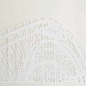 """שירה גלזרמן, רכבת הרים, 2010, חיתוך-נייר 100X50 ס""""מ"""