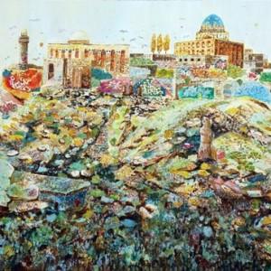 """פאנק אימפרסיוניזם - בז'רנו בן, 2011 , שמן על בד 180X130 ס""""מ"""