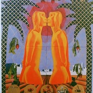 """עין לנמרוד צופיה - גל-נור אפרת, 2002 , שמן על נייר, 150X212 ס""""מ"""
