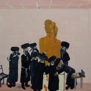 Nimrod's Circumcision 2, 2008 oil on canvas 42X50 cm.