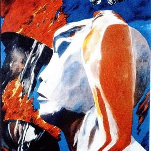 """נימרוד לדנציגר האב - רין רבקה,  1984 , שמן על בד, 170X220 ס""""מ"""