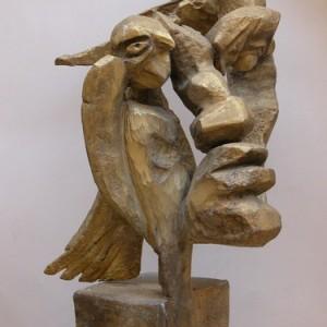 נמרוד - פלציג פרלי,  1950s יציקת אלומיניום וצבע 38X38X58