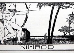 """נמרוד, מתוך איורים לתנ""""ך: ספר התנ""""ך - ליליין אפרים משה, 1908"""