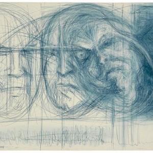 """סילבי סני, אמא - פרט, 2004 עפרון פסטל על נייר 50x65 ס""""מ"""