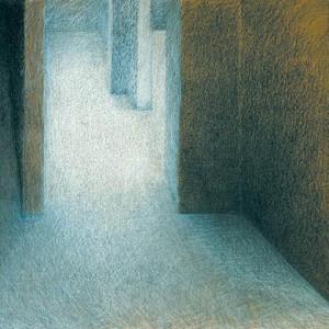 """מירי גרמיזו, שד ויצמן 28, 2000 עפרון סיני על נייר חום, 70x90 ס""""מ"""