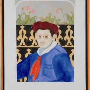 """דיוקנו של חיים מחבוב - בוקובזה אליהו אריק, 2006 , שמן על בד ומסגרת עץ, 73 X 93 ס""""מ"""
