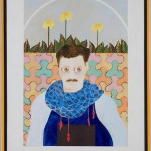 """דיוקנו של יהודה נחמיאס - בוקובזה אליהו אריק, 2006 , שמן על בד ומסגרת עץ, 73 X 93 ס""""מ"""