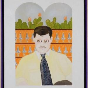 """דיוקנו של יעקב מזרחי - בוקובזה אליהו אריק, 2006 , שמן על בד ומסגרת עץ, 73 X 93 ס""""מ"""