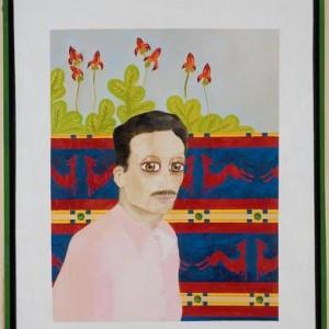 """דיוקנו של דויד סרי - בוקובזה אליהו אריק, 2006 , שמן על בד ומסגרת עץ, 73 X 93 ס""""מ"""
