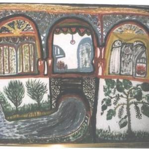 ללא כותרת - שמואליאן רינה, 1994 , טכניקה מעורבת על נייר