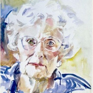 DEBBY - mother of the artist, watercolor 40 x 50 cm