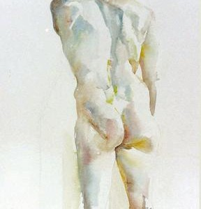 RAVIV, watercolor 62 x 40 cms
