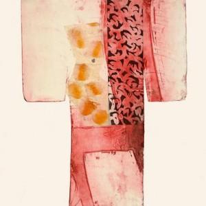 ללא כותרת, 2006 תחריט, אקווטינטה, chine collee