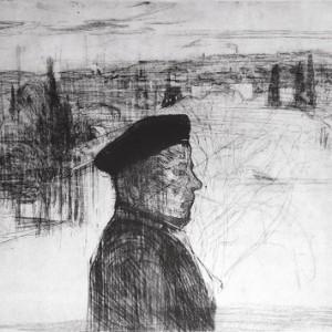 אליהו - ללוש עופר, 1988, תצריב על נייר, 105x76
