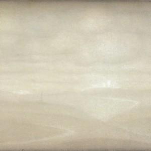 עלייה לירושלים, חורף - לקר בוריס, 2008, צבעי מים ועפרון על נייר, 60x49
