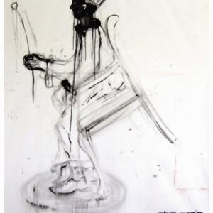 דרוש מלך - סימן טוב רונן, 2007, שמן על נייר פרגמנט, 178x198