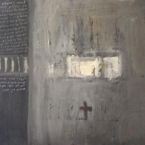 ירושלים - רותם גנה, 1993, שמן על בד, 100x70