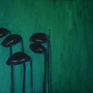 untitled - Berlinski Tova, 2009, Gouache on paper, 49x63 cm
