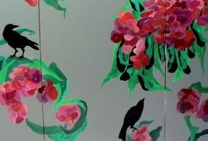 """מירי אור,גן עדן ,3 2008, צבע תעשייתי על בד 300X120 ס""""מ"""